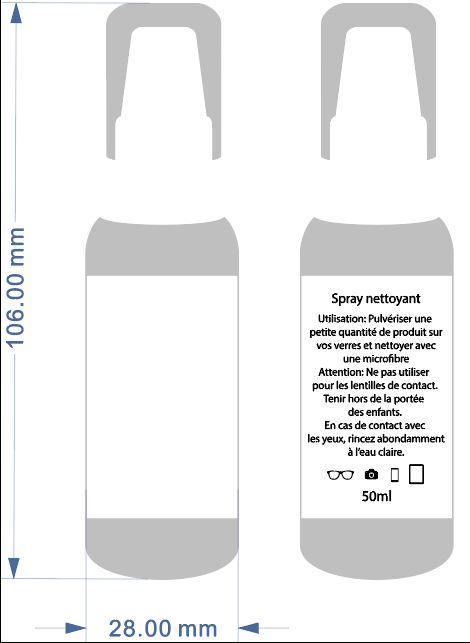 Spray nettoyant verres