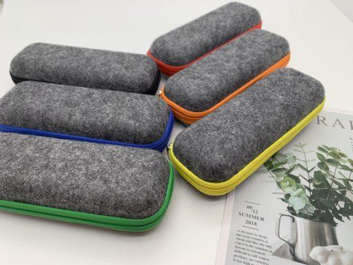 étui feutrine en plastique recyclée - Semi rigide